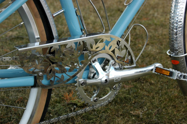 A nice shot of the chain guard