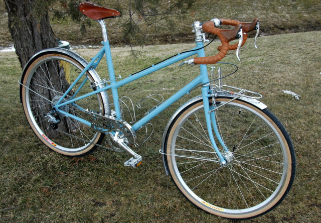 Anne's Mixte with fenders